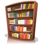 Fototapety Cartoon Library Bookshelf