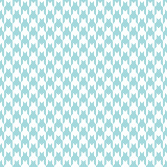 Seamless Houndstooth Pattern Turquoise/White Vertical