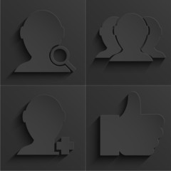 vector modern social network icons set.