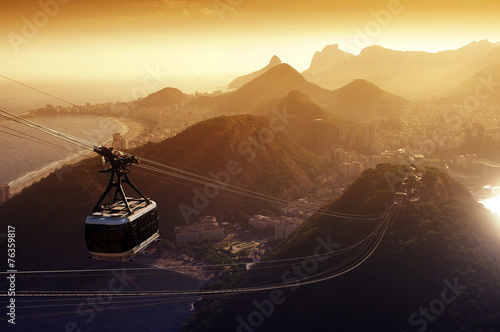 Sugarloaf cable car Poster