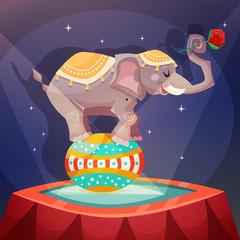 Circus Elephant Poster