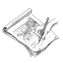 Kitchen Sketch Illustration