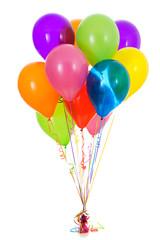 Balloons: Dozen Bright Colored Balloon Bouquet
