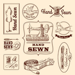 Sewing Emblems Set