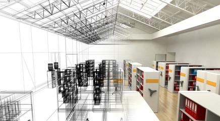 Archivio dati, faldoni, catalogo, business