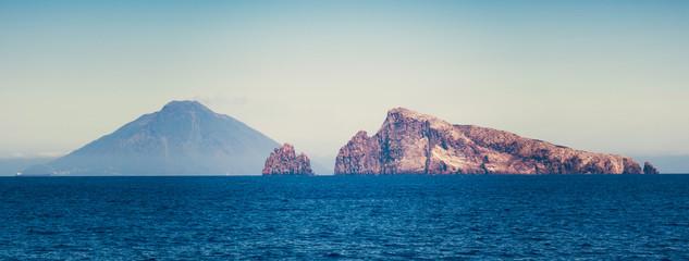 Stromboli volcano at eolian island