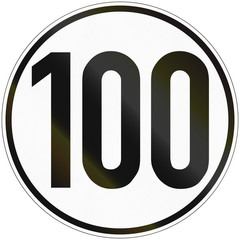 Speed Sign 100