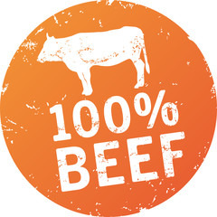 Button Stempel 100% Beef
