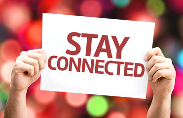 Stay Connected card with colorful background
