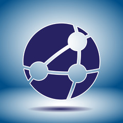 global network vector icon