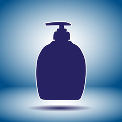 household detergent cleaning bottle icon