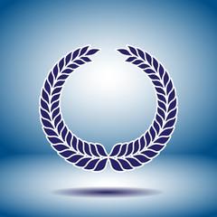 laurel wreath symbol vector icon