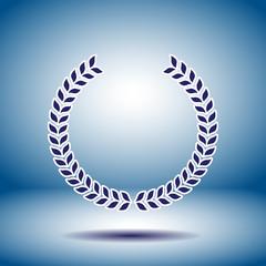 laurel wreath vector icon