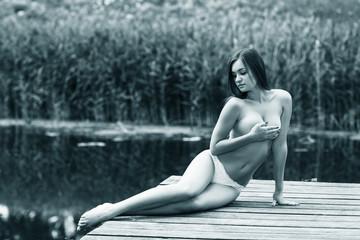Beautiful young nude woman