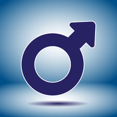 male gender symbol vector icon