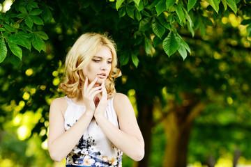 summer portrait of teen girl