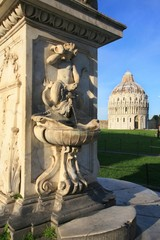 Toscana,Pisa,piazza dei Miracoli e battistero.