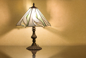 table lamp on desk