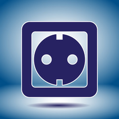 power socket vector icon
