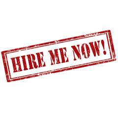 Hire Me Now!-stamp