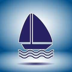 sailboat vector icon