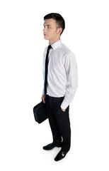 Business man looking up © fuzzbones
