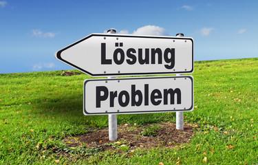 Wegweiser Problem - Lösung