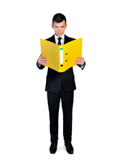 Business man with file