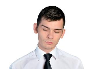 Business man sleepy face