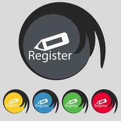 Register sign icon. Membership symbol. Vector