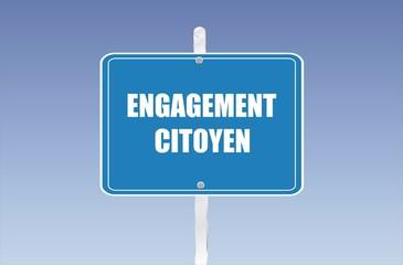 panneau engagement citoyen