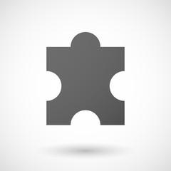 puzzle piece  icon on white background