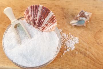 seasalt in glass bowl