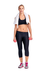 Workout women isolated