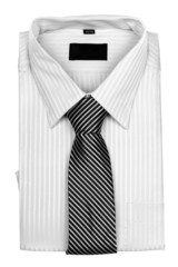 shirt with a tie. The concept of business