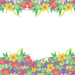 Vector Flower bouquet greeting card background