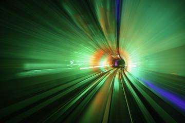 Subway motion blur