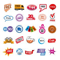big set of vector logos free