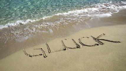 Zeichnung Glück am Sandstrand