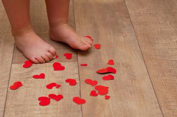 feet and heart