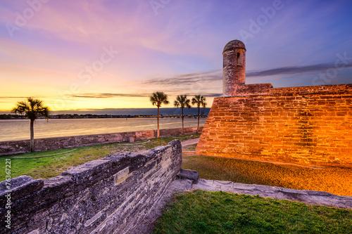 Leinwanddruck Bild St. Augustine, Florida, USA at Castillo de San Marcos Monument