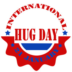 International Hug Day-label