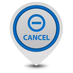 Cancel pointer icon on white background