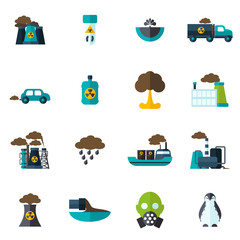 Pollution Icon Flat