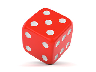 Red rolling dice