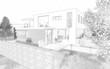 Esquisse maison d'architecte