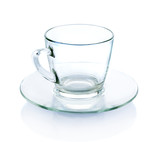 Empty glass isolate on white - 76367800