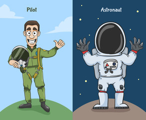 Astronaut And Pilot Characters