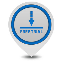 Free trial pointer icon on white background