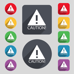 Attention caution sign icon. Exclamation mark